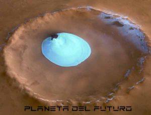 Lago de agua en Marte