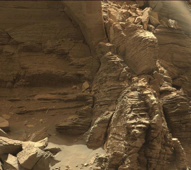 Montículo en Marte