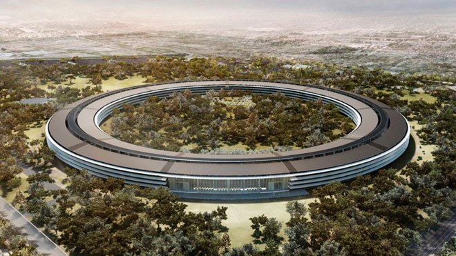 Edificio futurista de Apple