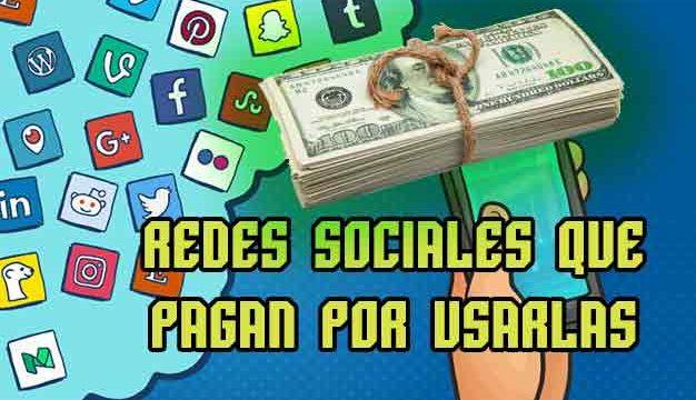 Redes sociales que pagan por usarlas