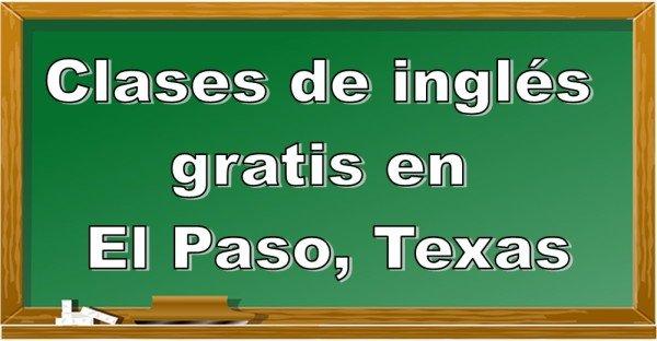 Clases de inglés gratis en El Paso, Texas